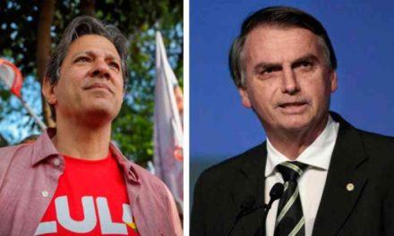 Jair Bolsonaro y Fernando Haddad se enfrentarán nuevamente el 28 de octubre
