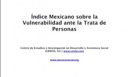 Índice Mexicano sobre la Vulnerabilidad ante la Trata de Personas.(2011)