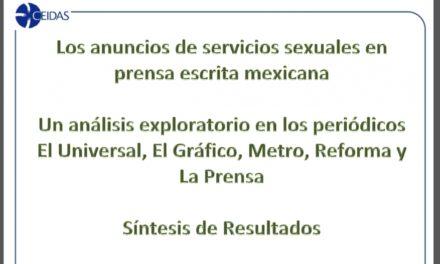 Los anuncios de servicios sexuales en prensa escrita mexicana.(2014)