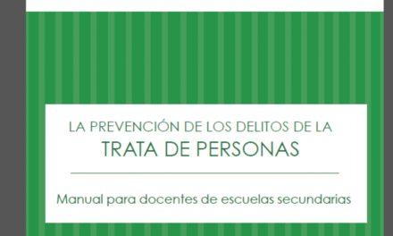 Manual para docentes- Taller para la prevención de los delitos de la trata de personas.(2014)