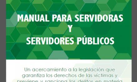Manual para servidoras y servidores públicos sobre la ley general en materia de trata.(2014)