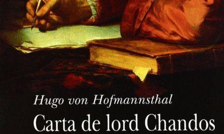 Los límites del lenguaje: entre Lord Chandos y Darío