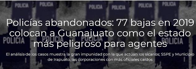 Guanajuato: el estado más letal para sus policías