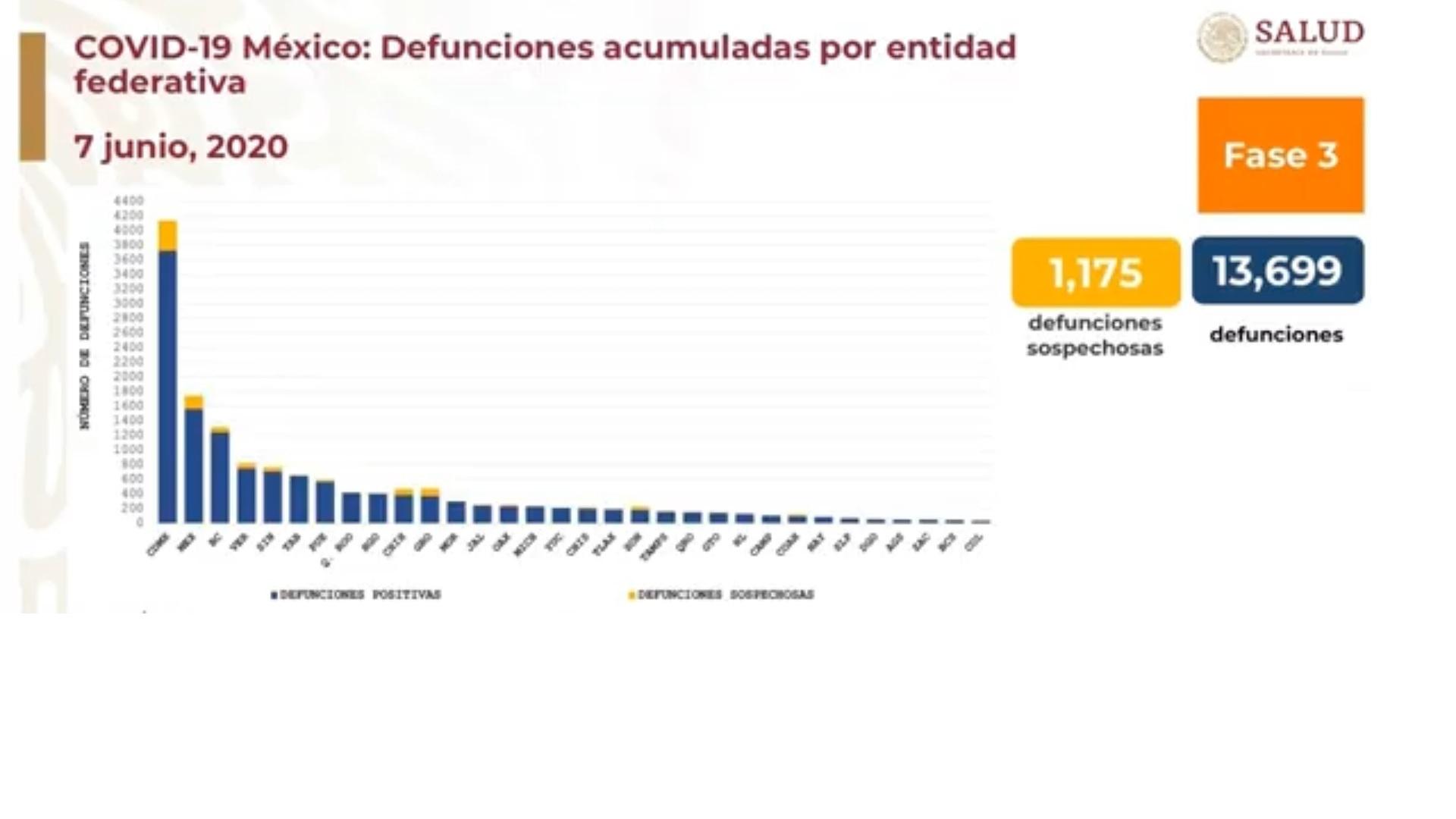 Defunciones por COVID 19. 100 días de pandemia en México
