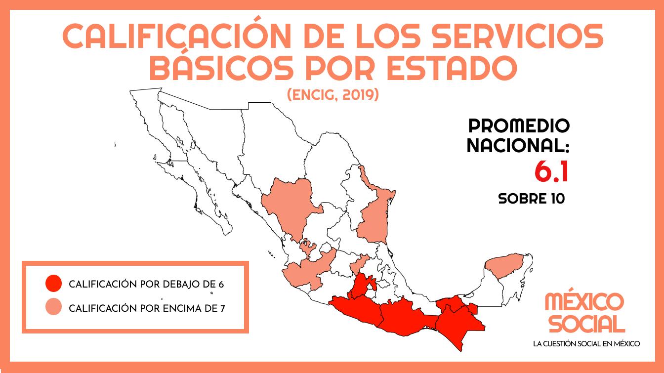 Las entidades peor evaluadas en servicios municipales básicos
