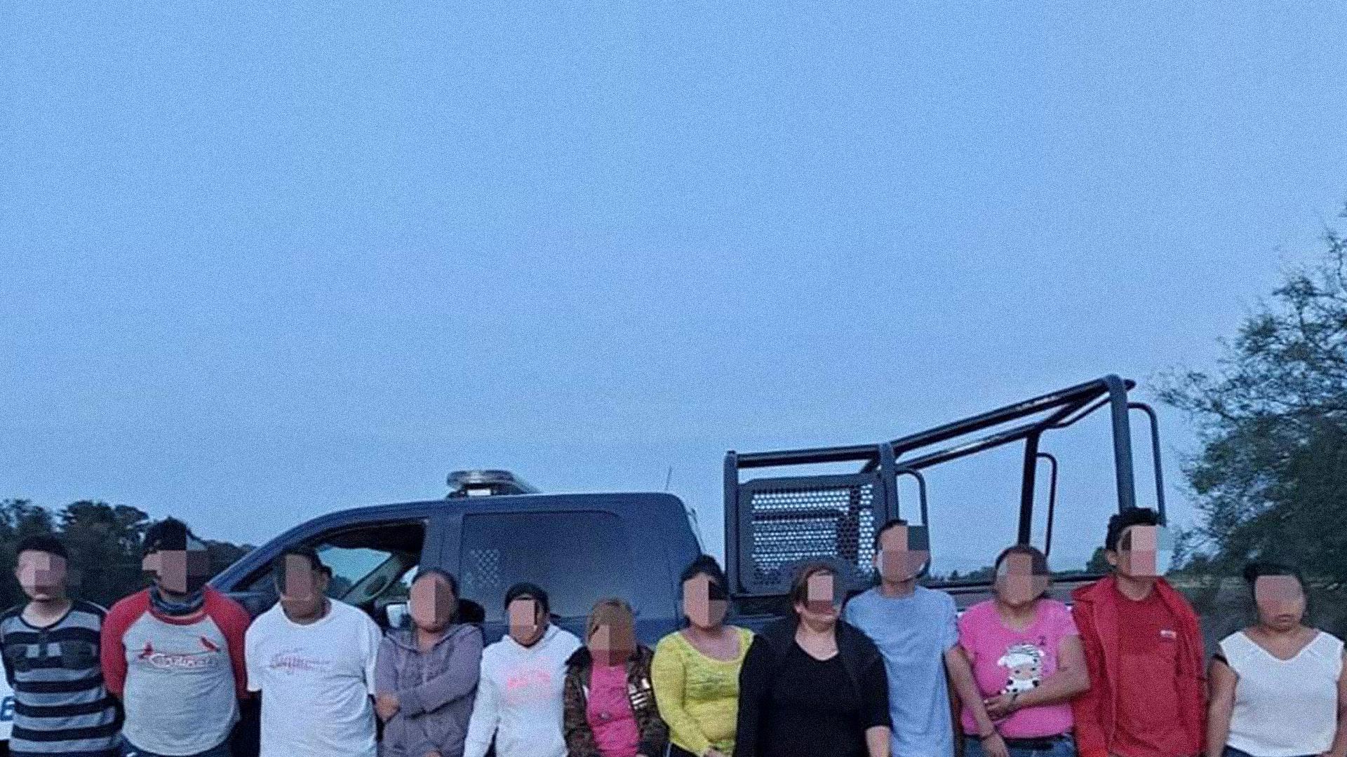 Personas detenidas en operativo contra El Marro