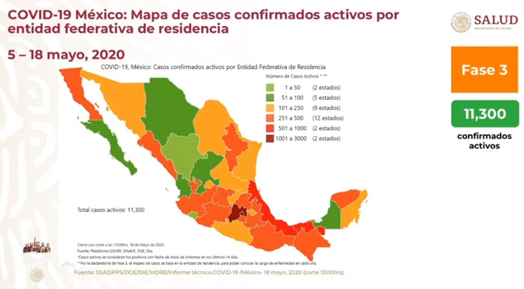 Mapa Casos activos COVID19